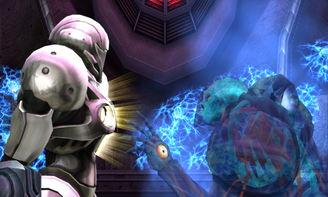 File:Dark Samus approaches Light Suit.png