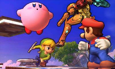 File:Mario Kirby Samus Toon Link Battlefield SSB4.jpg