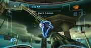 Prime Trilogy Promotional Dark Samus Fortress battle.jpg