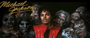 Michael Jackson banner with Zombies