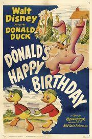 Donald happy birthday poster