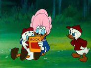 Donald reading comics