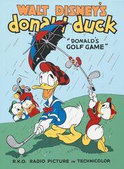 Donald golf game poster