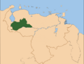 Map of Montblanc in South America.png