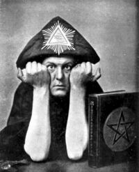 Aleister Crowley in Hat