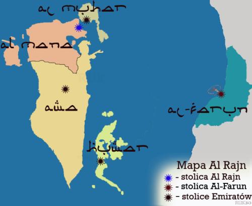 Mapa administracyjna al rajn