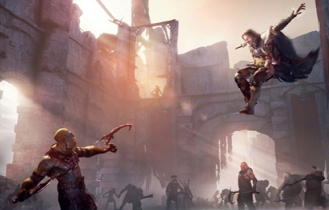 File:Talion makes an high jump to attacking a Uruk.PNG