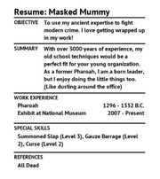 Resume MaskedMummy