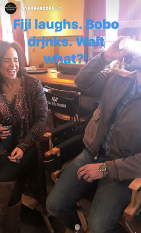 File:BTS Parisa Fitz-Henley and Dylan Bruce Arielle's IG.png