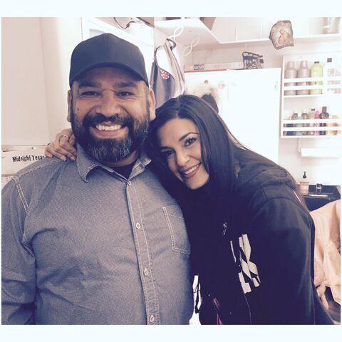 File:BTS Vanessa Sharp and Hugo Villasenor On Set Midnight Texas.jpg