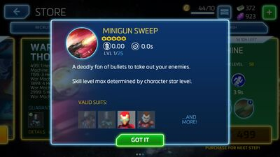 Minigun Sweep