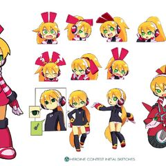 Art from the Mighty No. 9 Art book.