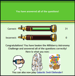 Astronomy Challenge End