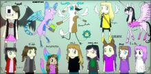 Minecraft storymode artist and their oc s by dragonfinchz-db790nn