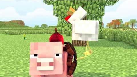Minecraft Animation - (Pig vs chicken) - By WeedLion