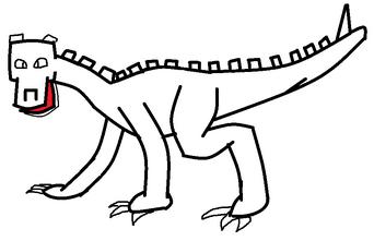 Wingless dragon template