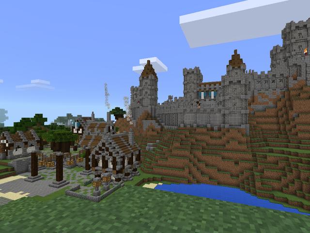 File:Minecraft medieval castle west.png