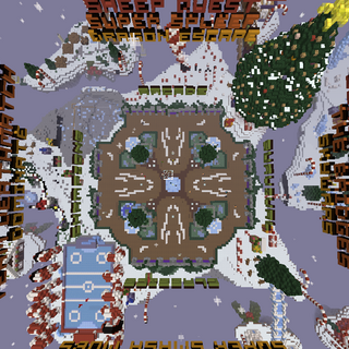 A top-down view of the 2015 central plaza in the Main Lobby during the <a href=