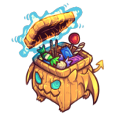 The official artwork for Trick or Treat Treasure