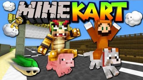 MineKart No Mods Server! (Mario Kart Minecraft Map Minigame)