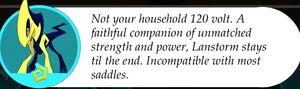 Lanstorm's Description