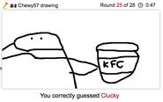 Draw It KFC uh I mean Clucky