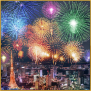 The Great Fireworks Showdown Event Background Square