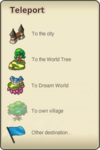 Teleport-menu