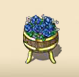 Blue Flower Barrel