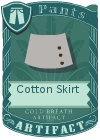 Cotton Skirt Grey