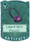 Lizard Skin Pouch Purple