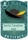 Gold Cavalier Hat Black