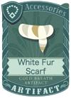 White Fur Scarf