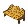 Leopard-print Antique Sofa