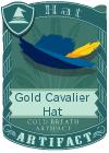 Gold Cavalier Hat Blue