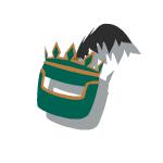 Bronze Helmet Green