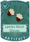 Lambs Wool Gloves Red