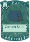 Cotton Skirt Blue
