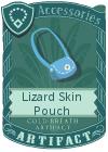 Lizard Skin Pouch Light Blue