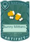 Bunny mitten yellow