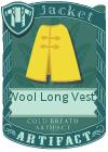 Wool Long Vest 3 Yellow