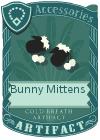 Bunny mittens black