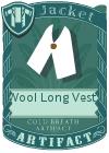Wool Long Vest 1 White