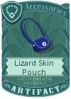 Lizard Skin Pouch Blue