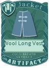 Wool Long Vest 3 Blue