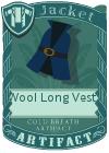 Wool Long Vest 2 Blue