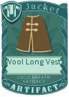 Wool Long Vest 3 Brown