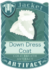 Down Dress Coat White