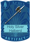 Holy Silver Halberd