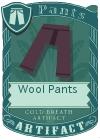 Wool pants purple